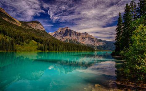 wallpapers emerald lake mountain lake rocky