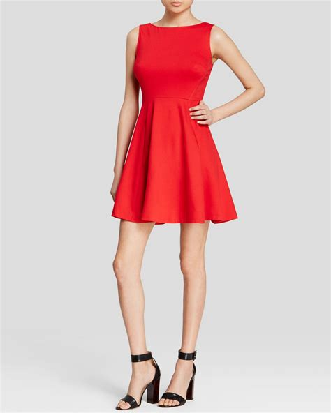 Back Bow Dress lyst kate spade new york ponte bow back dress in