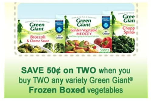 green giant boxed vegetables coupons