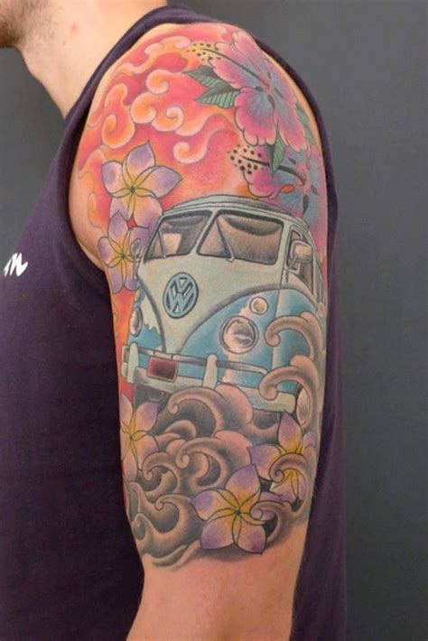 arm tattoo vw bus and buses on pinterest