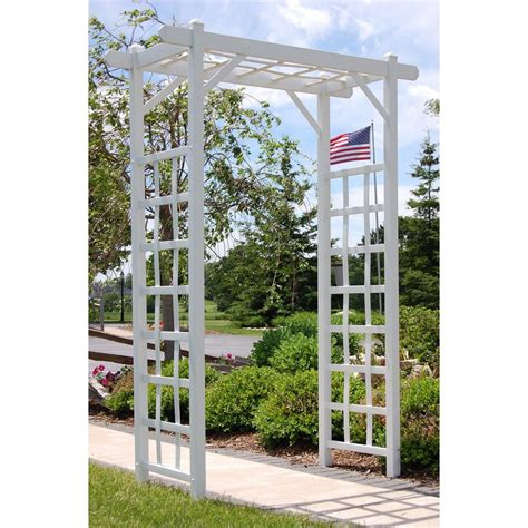 Garden Arbor Lowes by Shop Dura Trel 57 In W X 85 In H White Garden Arbor At