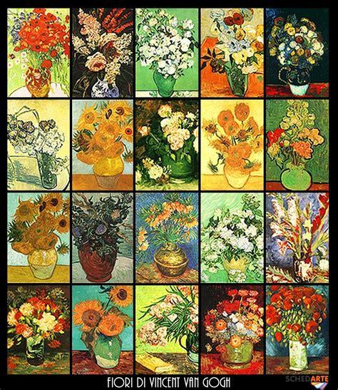 i fiori di gogh fiori di vincent gogh raccolta elaborati schedarte