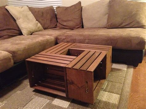 Coffee Table Out Of Crates Made This Coffee Table Out Of Apple Crates From Home Depot He Said It Was Easy To Make