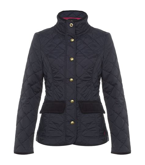 Joules Quilted Jackets by Joules Moredale Quilted Jacket In Blue Floral Lyst