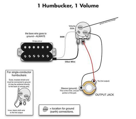 guitar wiring diagrams 1 wiring diagram for single humbucker readingrat net
