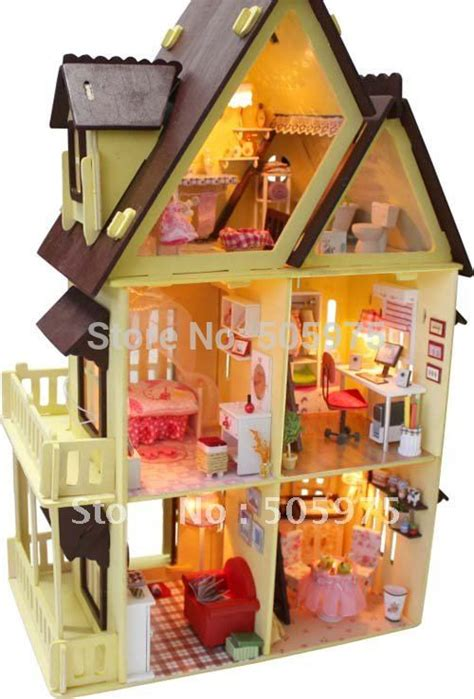 child doll house diy dollhouse light doll house children toy wooden dollhouses toy model dollhouse