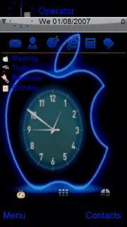 themes apple clock download iphone apple clock s60v5 theme nokia theme