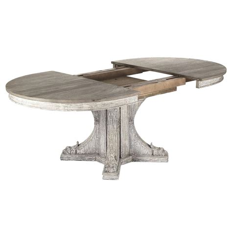 Oval Rustic Dining Table Agnes Country Rustic Oval Extendable Dining Table Kathy Kuo Home