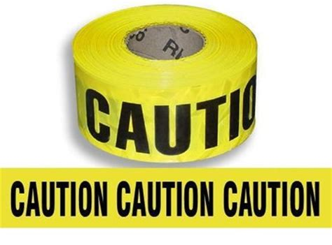 "yellow caution barricade tape 3""x1000'"