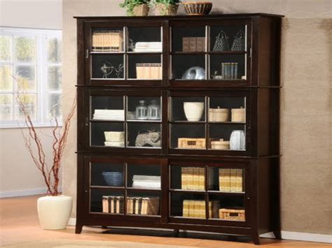 bookcase cabinets with doors alluring glass door bookshelves design ideas design ideas