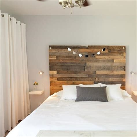 Floating Headboard Ideas Creative Pallet Headboard Ideas A Charming Accent In The Bedroom