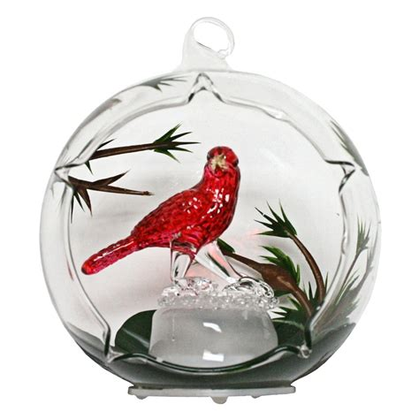 gerson 362552 color changing led glass globe cardinal