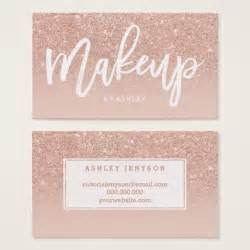 makeup artist business card makeup artist typography blush gold business