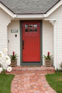 brick house with kelly moore red door 30 front door colors with tips for choosing the right one
