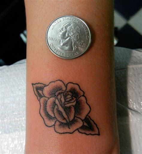 small black rose tattoo tiny black and gray traditional jose bolorin