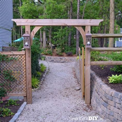 build an arbor trellis diy garden arbor