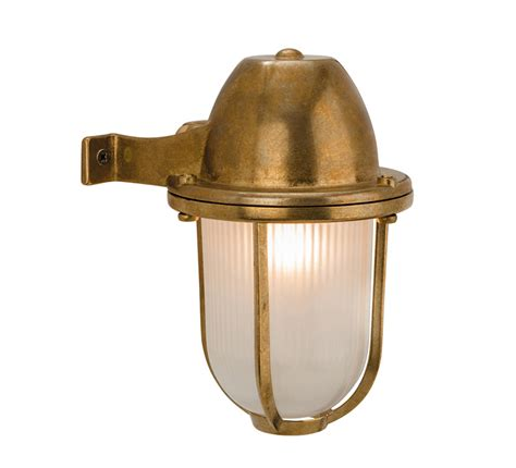 Solid Brass Outdoor Lighting Firstlight Nautic Bulkhead Ip64 Single Outdoor Wall Light Solid Brass Finish With Frosted
