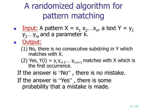 Randomized Pattern Matching Algorithm | ppt chapter 11 powerpoint presentation id 857927