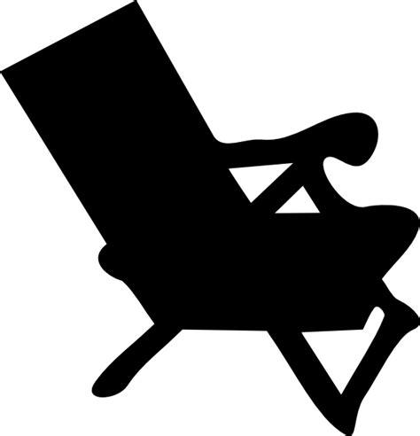 Beach Chair Silhouette Clip Art at Clker.com   vector clip