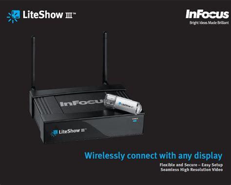 Projector Infokus Lite Show Iii infocus liteshow 3 wireless adaptor for any display or