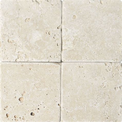 ivory tumbled travertine tiles 6x6 marble system inc