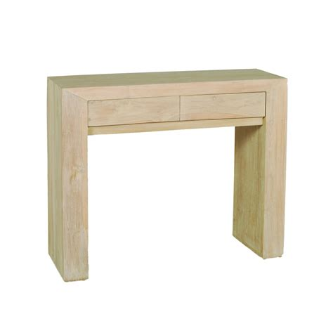 il console console moderne 2 tiroirs teck blanchi meubles macabane