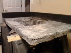 concrete countertop series 8 molds removed top surface