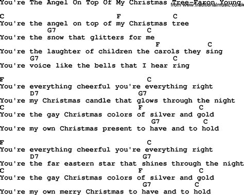 country music you re the angel on top of my christmas tree