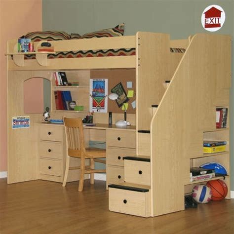 loft bed with desk and stairs berg furniture utica twin dorm loft bed with stairs