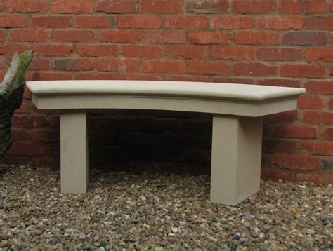 curved stone bench modern single curved stone bench large garden bench s s shop