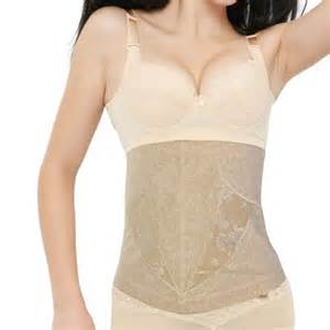 s flesh color tummy girdle belt body shaper underbust
