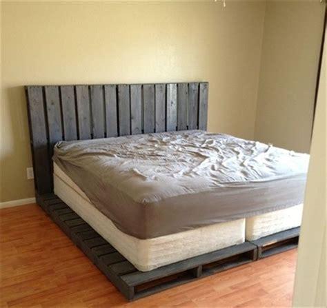 pallet bed frames pallet bed frame for the home pinterest