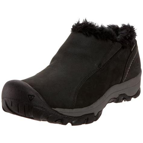 keen womens brighton slip on wp winter shoe in black lyst