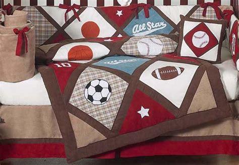 Crib Bedding Sports Theme Luxury All Sports Themed Boys Baby Bedding 9pc Crib Set Sweet Jojo Designs Ebay