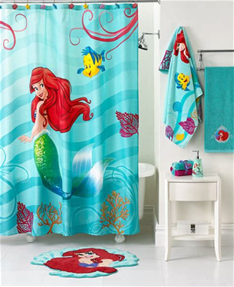 disney little mermaid shower curtain disney bath little mermaid shimmer and gleam collection