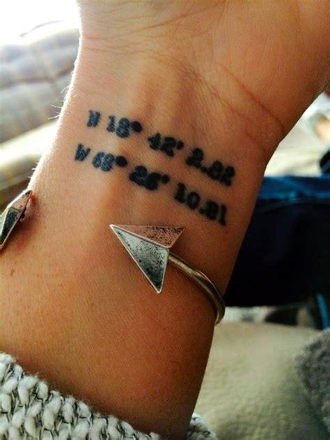 coordinates tattoo creator 66 adventure coordinates tattoo ideas for your next trip