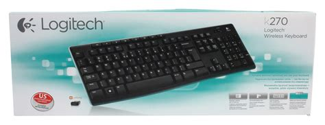 Keyboard Logitech K270 lgt k270 us logitech wireless keyboard standard usb us international black electronic