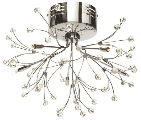 5 arm pendant ceiling light pair of modern silver chrome 5 way multi arm ceiling light