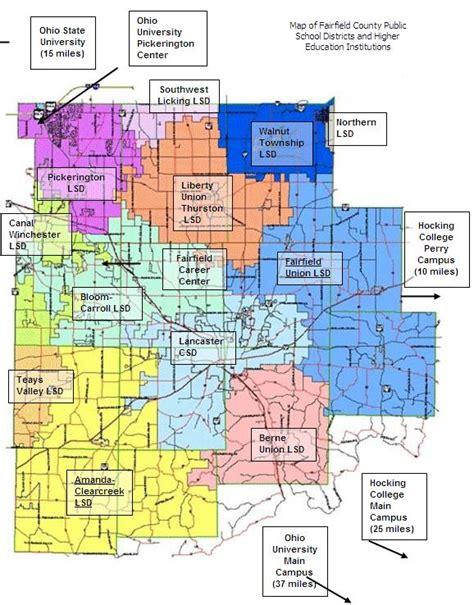Fairfield County Records Fairfield County Ohio Map Afputra