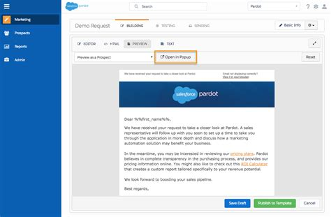 Create An Email Template Unit Salesforce Trailhead Pardot Email Templates