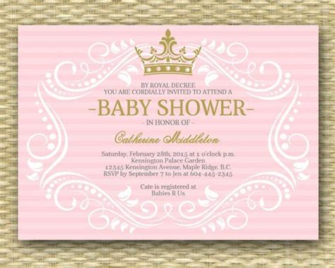 Royal Princess Baby Shower Invitation Little Princess Baby Princess Baby Shower Invitation Templates Free