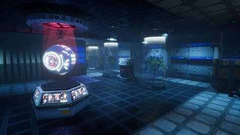 sci fi laboratory sound focusing noise masking high pro tek sci fi pbr laboratory interior with hologram by
