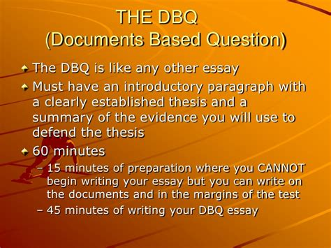 How To Write A Dbq Essay by Writing A Dbq