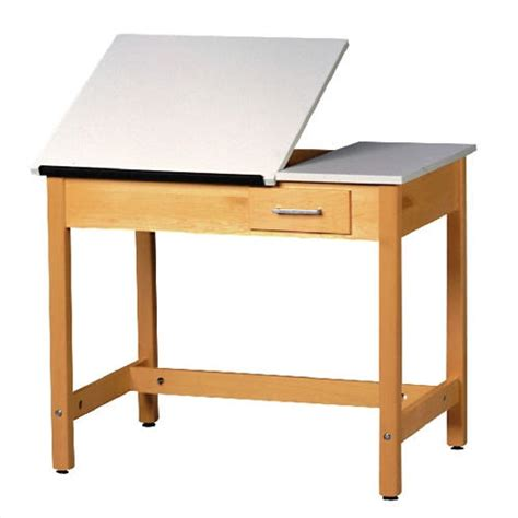 split top drafting table shain dt 2sa30 split top drafting table w small drawer
