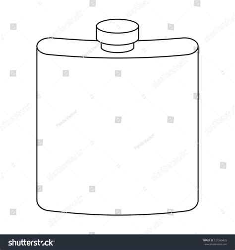 Outline On Hip by Hip Flask Icon Outline Style Isolated Stock Vector 521560435