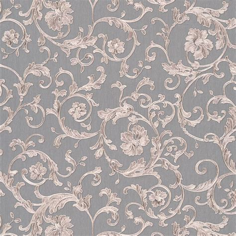 grey versace wallpaper versace barocco floral silver grey glitter wallpaper 34326 5