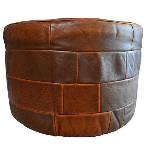 de sede leather patchwork ottoman for sale at 1stdibs