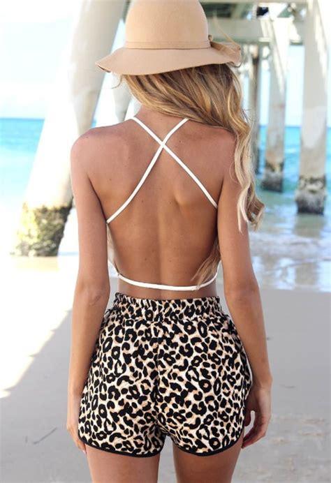 Blouse Adidas Leopard Combate Fit L fashion leopard shorts disheefashion