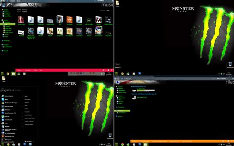 download theme windows 7 monster energy monster energy windows 7 by damochavvy2012 on deviantart