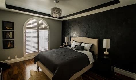 black and grey bedroom sherman oaks condo modern ls black and gray bedroom